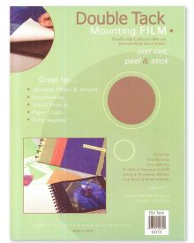 Grafix Double Tack Mounting Film, 9X12 inches 3/Pkg