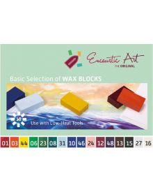 Encaustic Art Original Basic Selection of 16 Wax Blocks