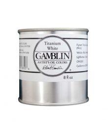 Gamblin Artitst's Oil Color - Titanium White, 250 ml (8oz)