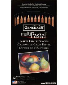 General's MultiPastel Chalk Pencils, 12 Assorted Colours