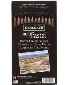 General's MultiPastel Chalk Pencils, 24 Assorted Colours