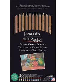 General's MultiPastel Chalk Pencils, 36 Assorted Colours