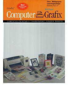 Grafix Computer Films Clear, Inkjet, Adhesive, 8-1/2'' x 11'' Pkg of 6