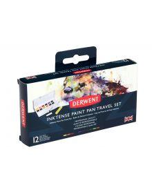 Derwent Inktense Paint 12 Pan Travel Set 01