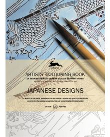 JAPANESE DESIGNS: Artists' Colouring Books - Paperback