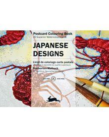 JAPANESE DESIGNS: PEPIN POSTCARD COLOURING BOOK