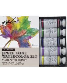 M. Graham Jewel Tone 5-Colour Watercolour Paint Set