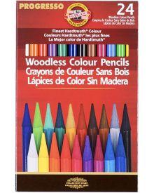 Koh-I-Noor Progresso Woodless Coloured Pencil Set of 24