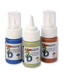 Jacquard Lumiere 3D Metallic Paint and Adhesive Colours