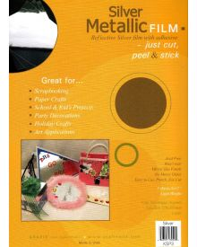 Grafix Metallic Film Silver, 9X12 inches 3Pkg