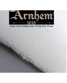 Arnhem 1618 Printmaking 100% Rag Paper 5-Packs, White 320