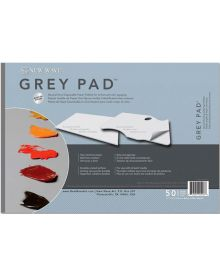 New Wave Grey Pad Rectangular Disposable Paper Palette, 11x16 inch