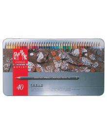 Caran d'Ache Pablo Coloured Pencil Metal Box Set of 40