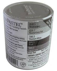 Pan Pastel Greys Colour Set of 5