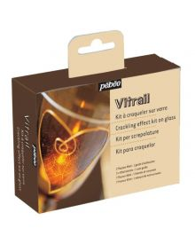 Pebeo Vitrail Stained Glass Effect Glass Paint Crackling Kit