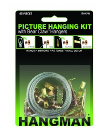 Hangman Picture Hanging Kit With Bear Claw Hangers