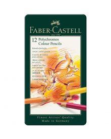 Polychromos colour pencil, tin of 12