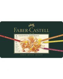 Faber-Castell Polychromos Colour Pencil Set - Tin of 36