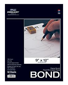 Bright White Bond Layout Paper Pad by Pro Art - 14 x 17 inches