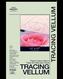 "Pro Art Tracing Vellum 50 Sheet Pad 11"" x 17"" 37 lb."