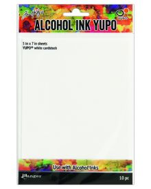 Tim Holtz Alcohol Ink Yupo (White cardstock) 5 x 7 in