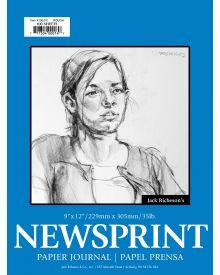 Jack Richeson Rough Newsprint Pad 9x12-inch 100 Sheets