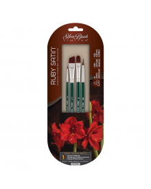 Silver Brush Ruby Satin Expressive Painting 4pc Set