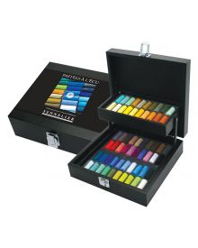 Sennelier Extra-Soft Pastel Half Stick, 60-Colour Black Wood Box Set