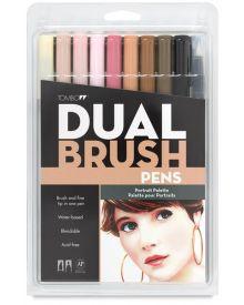 Tombow Dual Brush Set - 10 Portrait Colours