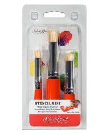 Stencil Mini Short Handle Brush, Short Stencil, Size 6