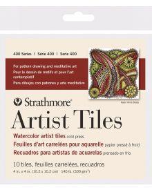 Strathmore 400 Series Watercolour Artist Tiles, Cold Press – 10/Sht. 4″ x 4″
