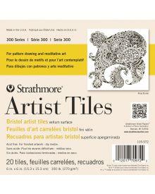 Strathmore 300 Series Artist Tiles, Bristol Vellum Pad – 20/Sht. 6″ x 6″
