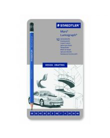 Mars Lumograph 100 Design/Drafting Pencils - Set 12