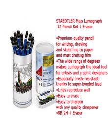 Mars Lumograph 12 Set + Eraser