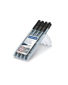 Steadtler Lumocolor Permanent Markers (4pc Black)