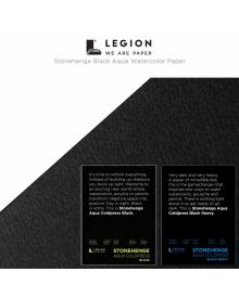 Legion Stonehenge Aqua Black Watercolour Paper - Sheets