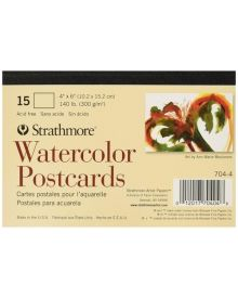 Strathmore Blank Watercolour Postcards Pad of 15