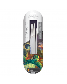 Silverwhite Short Handle Detail Brush 4pc Set