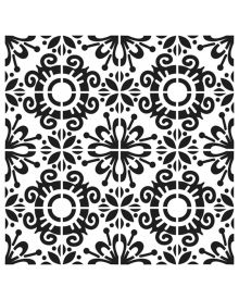 The Crafters Workshop Stencil - Fantasy Tile 6 x 6 inch
