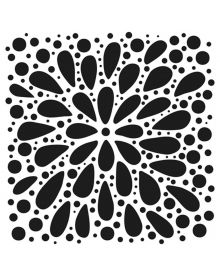 The Crafters Workshop Stencil - Explosion 6 x 6 inch