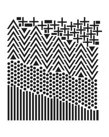 The Crafters Workshop Stencil - Shape Landscape 12 x 12 inch