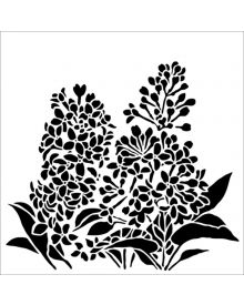 The Crafters Workshop Stencil - Lilacs 6 x 6 inch