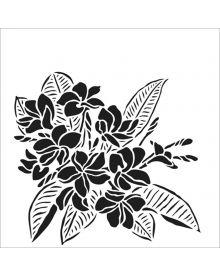 The Crafters Workshop Stencil - Plumeria 6 x 6 inch