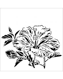 The Crafters Workshop Stencil - Hibiscus 6 x 6 inch