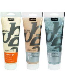 Pébéo Studio Acrylics Auxiliaries Sand Texture Gel 250 ml Tubes
