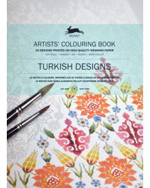 TURKISH DESIGNS: Artists' Colouring Books - Paperback