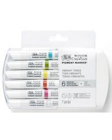Winsor & Newton Pigment Marker Vibrant Colour Set 6pk