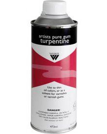 Weber Artists Pure Gum Turpentine 473ml