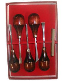 Wood Carving Set of 5 with Stone-L333-50