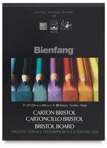 Bienfang Bristol (smooth) Drawing Pad 11 x 14 Inch